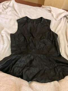 H&M Leather Top