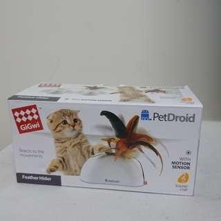 🚚 GiGwi你我跑給你追-羽毛躲貓貓電子玩具