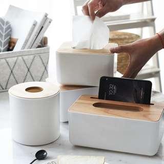 PO Basic Tissue Box Wooden Cover