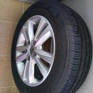 Tyre and Rim set for sale... Like New
