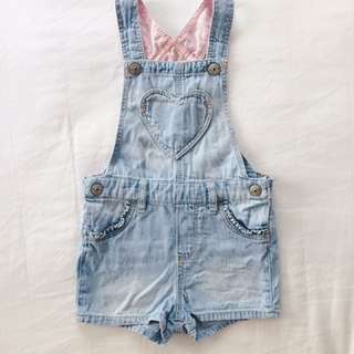 H&M Baby Girl Denim Overall