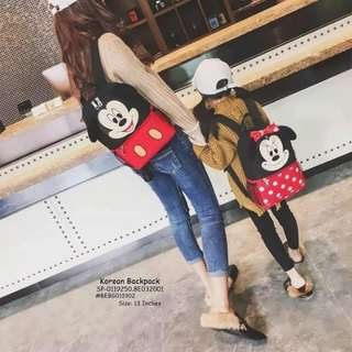 Korean backpack size : 13 inches