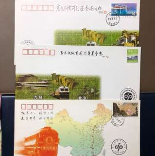 Clearing Stocks: China Hong Kong Return 1997 First Train Officially Opening Souvenir Covers X 3 Pieces