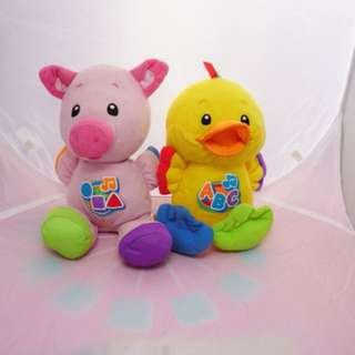 Fisher Price - singing duck and pig