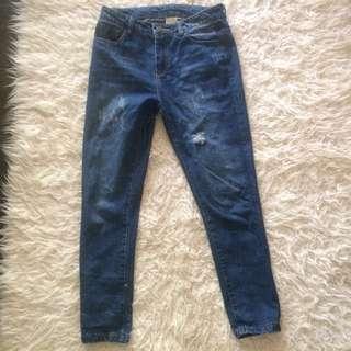 Celana jeans ripped / robek magnolia