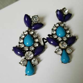 Dressy blue earrings