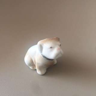 Mini dog porcelain