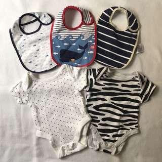 Mothercare Bundle (Newborn Onesies + Bibs)