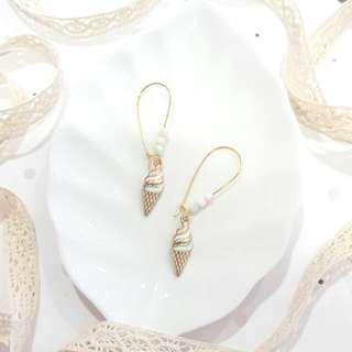 • Ice Cream • Version 2 • Handmade Earrings • Dangling •