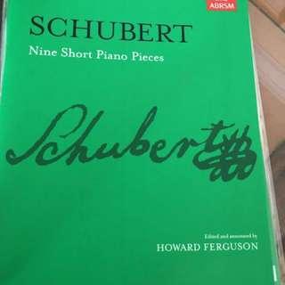 Schubert piano scores (LTCL)