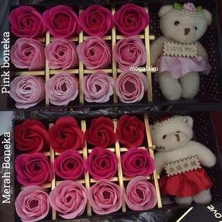 Buket bunga mawar sabun
