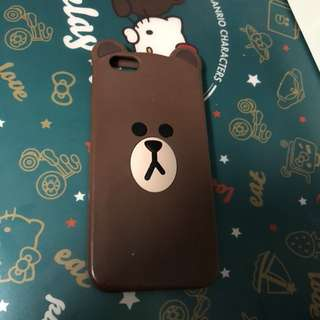 🈹$20👉🏻IPhone 6 手機軟殼 熊大Brown