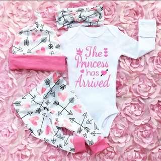 Infant newborn baby girls romper
