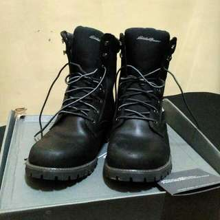 Eddie Bauer Boots Black Severson Plain Toe