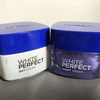 Loreal White Perfect Day Cream & Night Cream