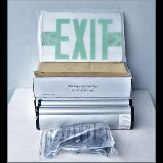 Exit Sign, Exit Signage (Brand New)