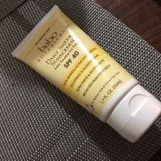 Babo Botanicals SPF40 Natural Sunscreen