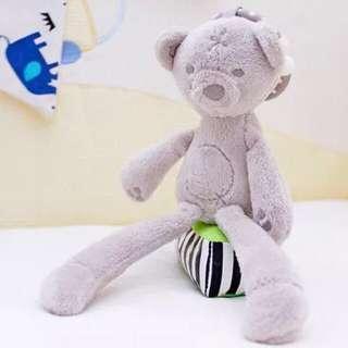 🦁Instock - bear rattle toy, unisex baby infant toddler girl boy children glad cute