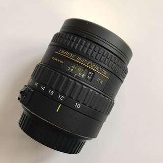 Tokina fisheye 10-17 F3.5-4.5 DX canon