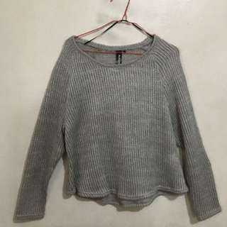 Factorie Grey Oversized Sweater