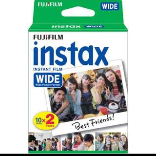 100 PCS Instax Wide Film