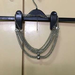 Silver fancy layered necklace