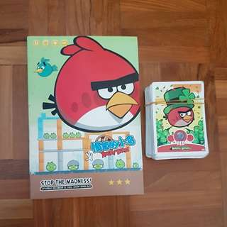Angry Bird Notebook with a deck of cards