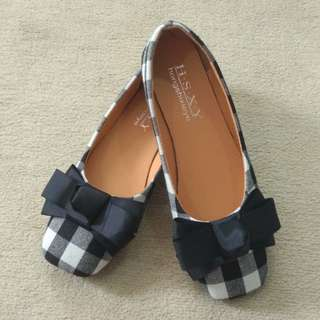 #XMAS25 Black Ballet Flats with Bow