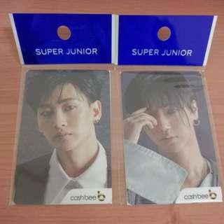 韓國 Super Junior Cashbee 交通卡 藝聲/銀赫