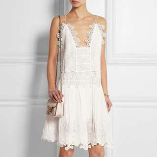 CHLOÉ White Guipure Lace Dress
