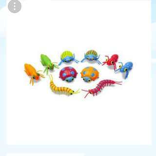 Bugs beetles insects rubber toys