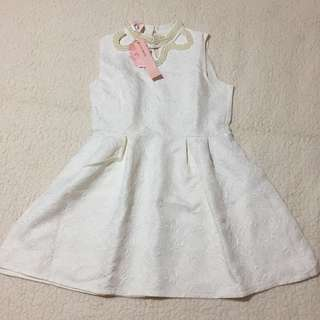White pearl dress