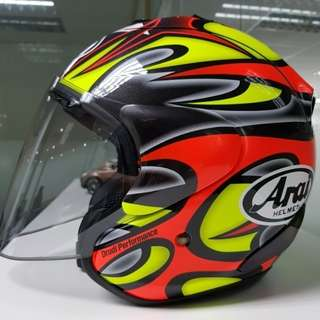 Arai Open Face. COLLIN Edwards Edition.