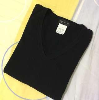 Agnes b 棉質V領衫