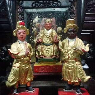 Vintage Chinese Tauism Wood Carving Statue.