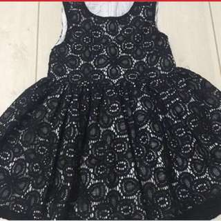 Black lace dress 6-12mos