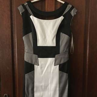 Karen Millen Black and White Knee Length