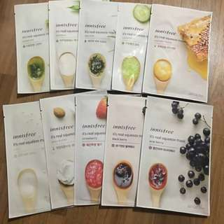 $1.30 ❤️INSTOCKS❤️ Innisfree Its real squeeze Mask