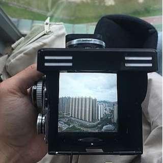 Rolleiflex 2.8E 已換Beattie超亮對焦屏 120相機 中幅 6x6 對焦有問題