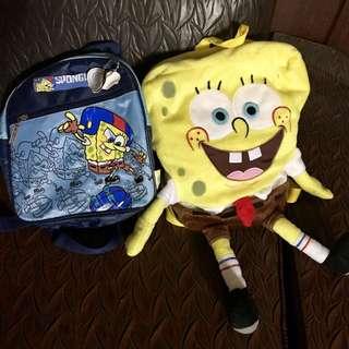 Spongebob Squarepants Backpack Bundle for Little Boys