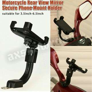 Motorcycle Secure Grip Lock Adjustable Flexible Arm Phone Holder.