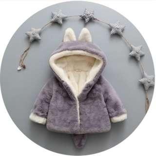 寶寶冬裝0-3歲嬰幼兒加絨加厚外套