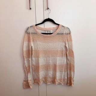 Billabong Pale Pink Striped Top