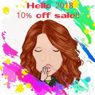 10% off on all items!! Until Jan 31 only!!