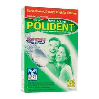 POLIDENT (suitable for cleansing retainers)