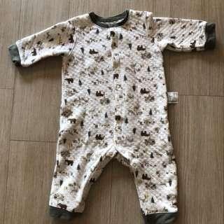 Uniqlo fleece jumpsuit pyjamas