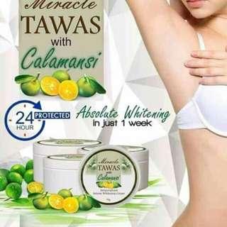 whitening tawas