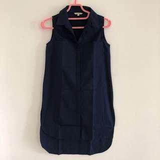Et Cetera Navy Shirt Dress