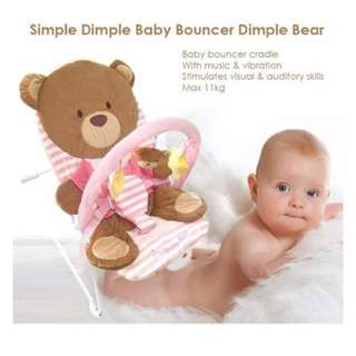 Simple dimple baby bouncer (with music and vibration)