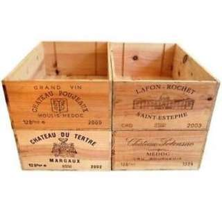 Wooden Wine Crates/ Box